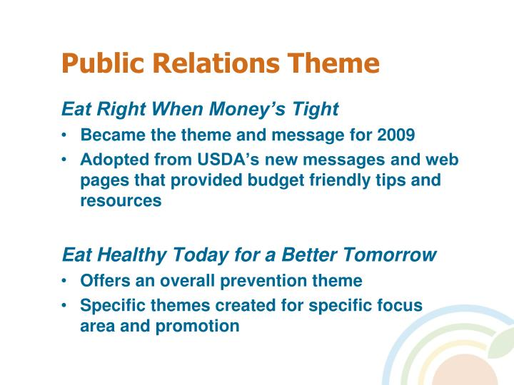 Public Relations Theme