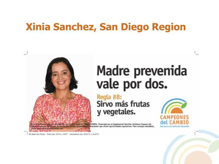 Xinia Sanchez, San Diego Region