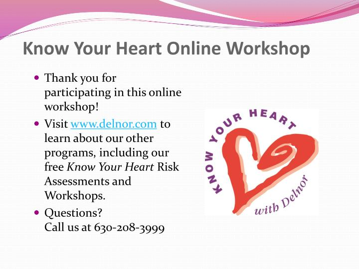 Know Your Heart Online Workshop