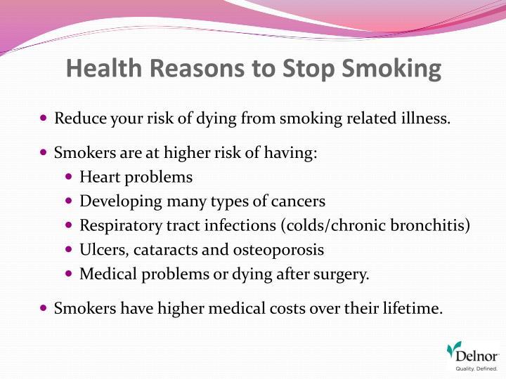 Health Reasons to Stop Smoking