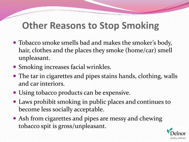 Other Reasons to Stop Smoking