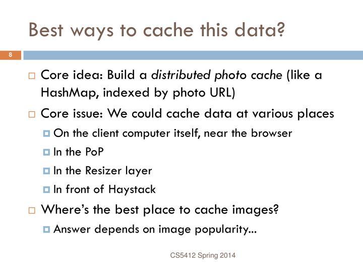 Best ways to cache this data?