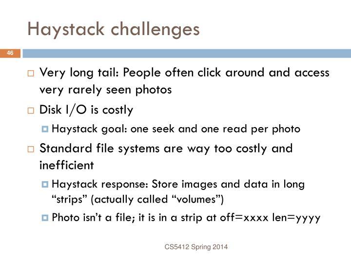 Haystack challenges