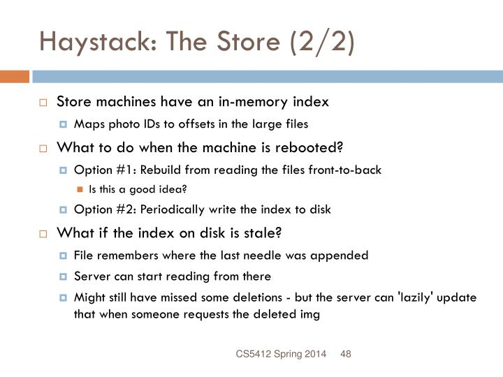 Haystack: The Store (2/2)