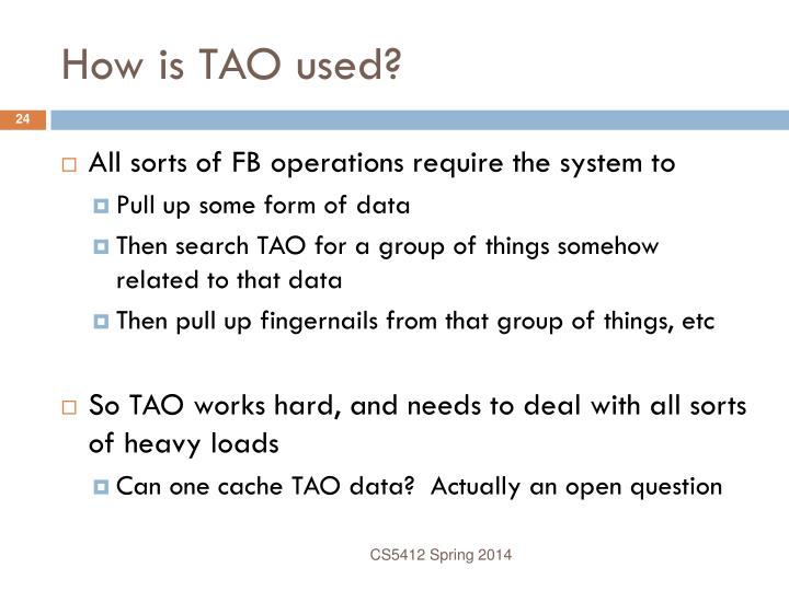 How is TAO used?