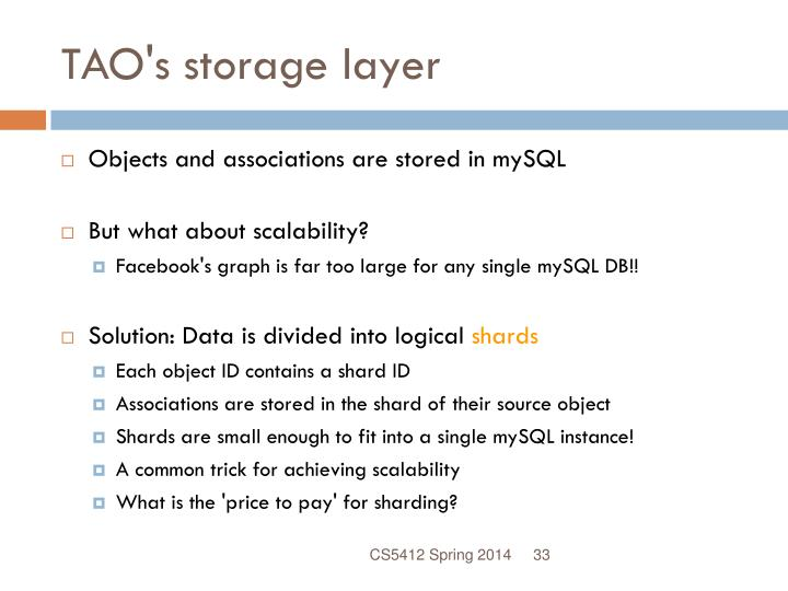 TAO's storage layer