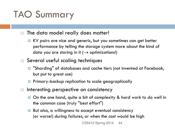TAO Summary