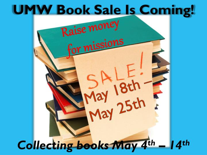 UMW Book Sale Is Coming!