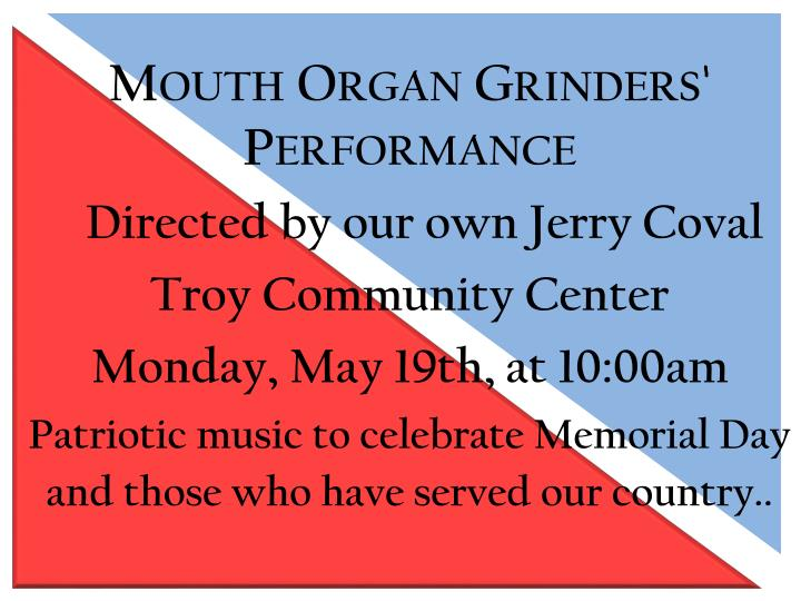 Mouth Organ Grinders' Performance
