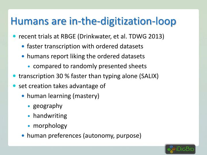Humans are in-the-digitization-loop