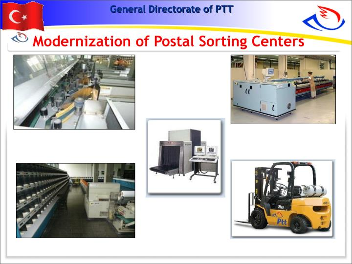 Modernization of Postal Sorting Centers