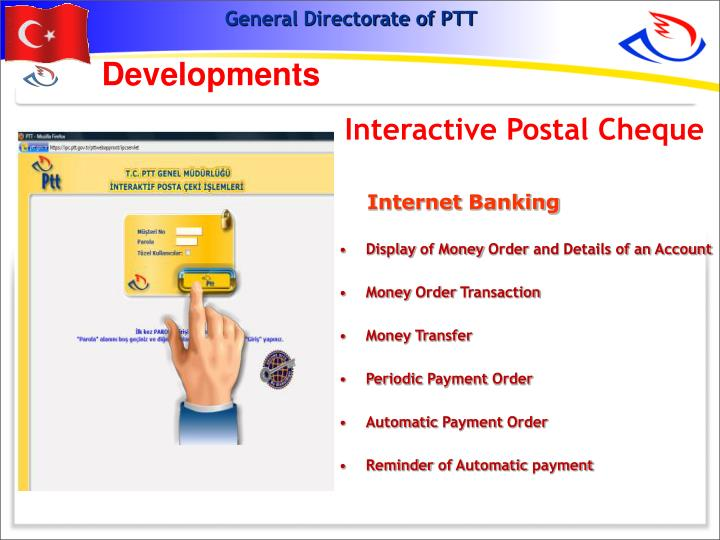 Interactive Postal Cheque