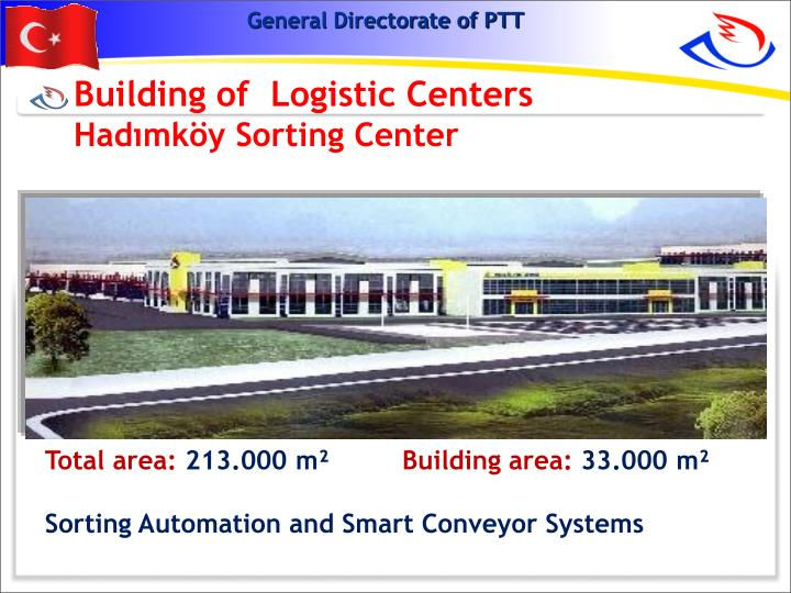 Building of  Logistic Centers