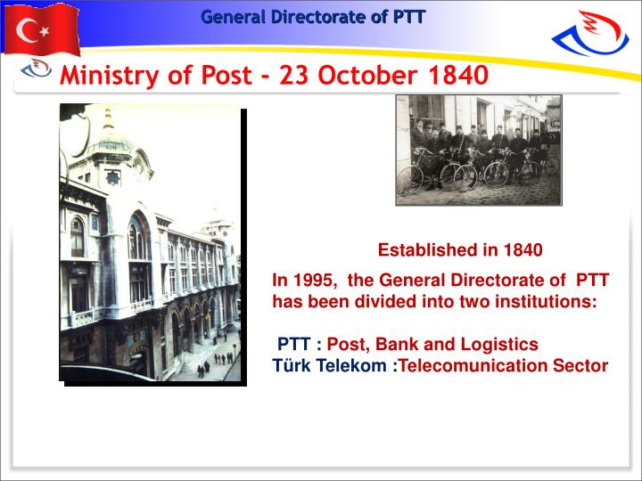 Ministry of Post - 23 October 1840