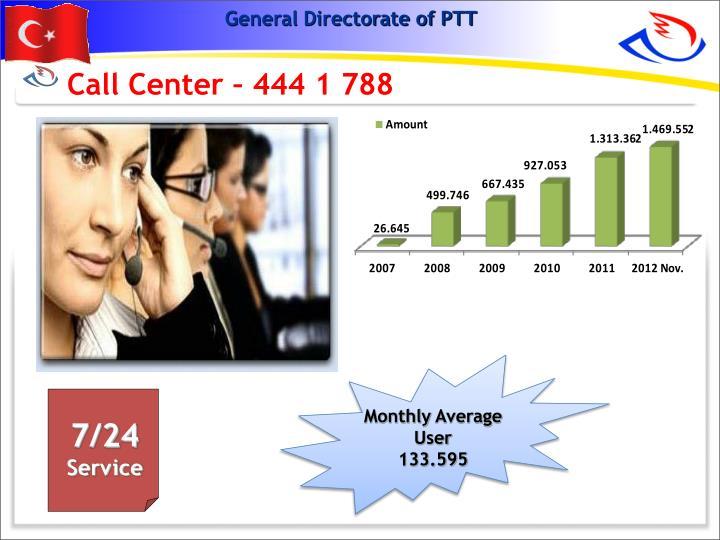 Call Center – 444 1 788