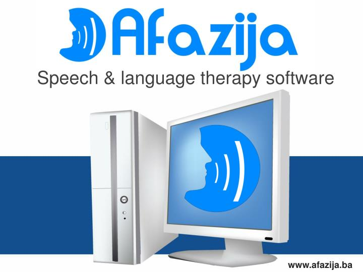 Speech language therapy software