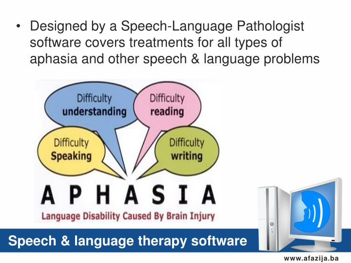 Speech & language therapy software