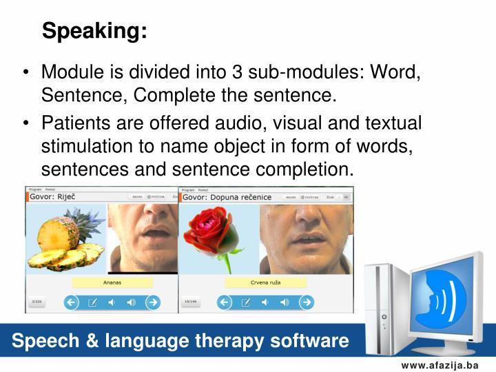 Speaking: