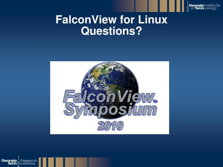 FalconView for Linux