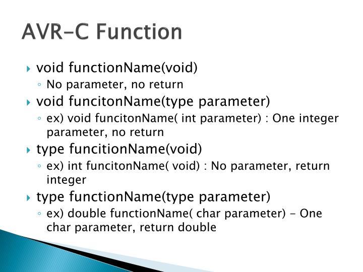 AVR-C Function
