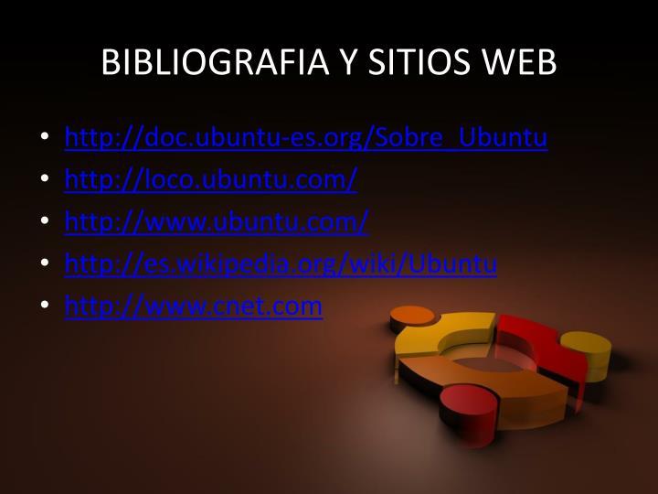 BIBLIOGRAFIA Y SITIOS WEB