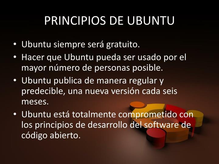 PRINCIPIOS DE UBUNTU