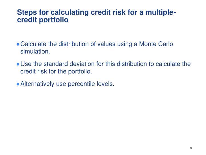 Steps for calculating credit risk for a multiple-credit portfolio