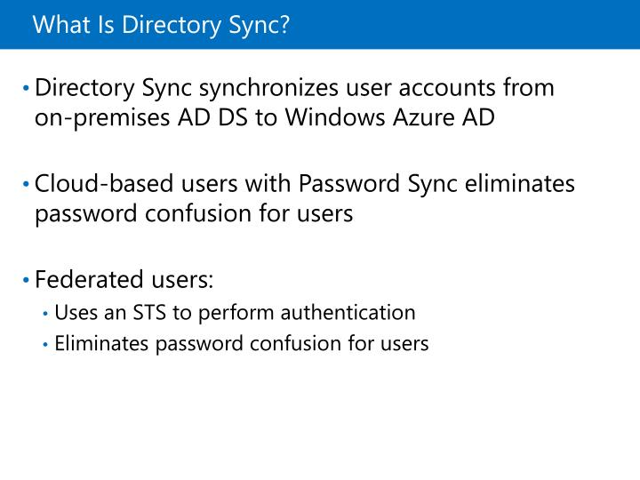 What Is Directory Sync?