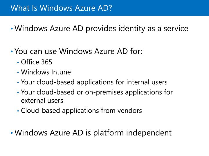 What Is Windows Azure AD?