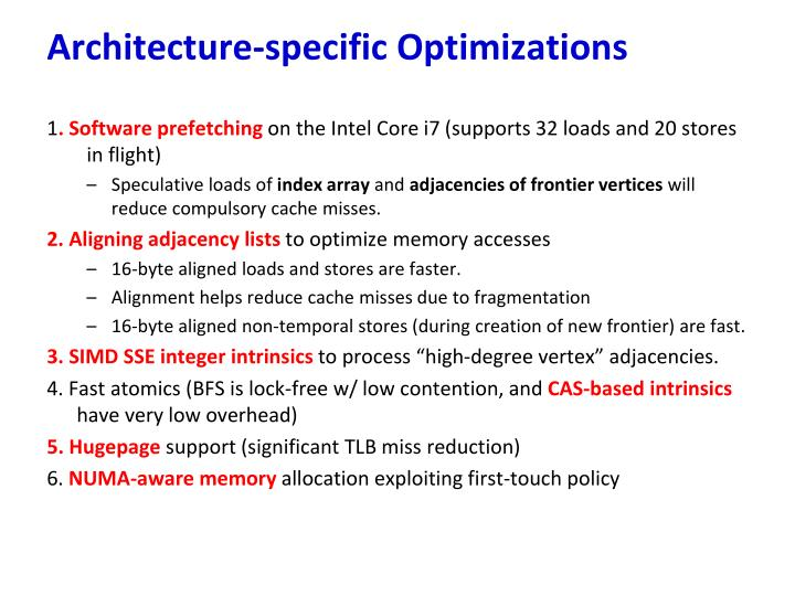 Architecture-specific Optimizations