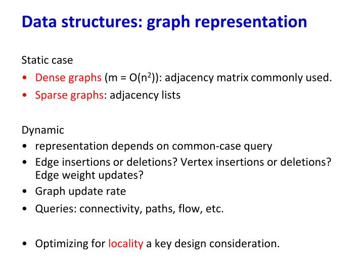 Data structures: graph representation