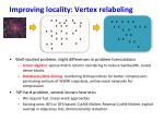 improving locality vertex relabeling