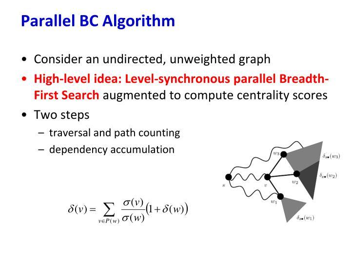Parallel BC Algorithm