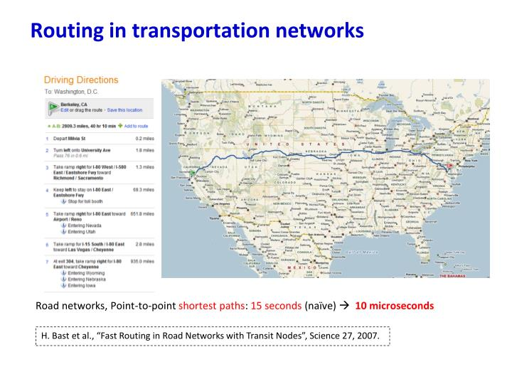 Routing in transportation networks