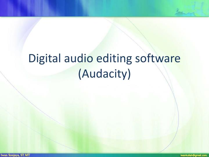Digital audio editing software audacity