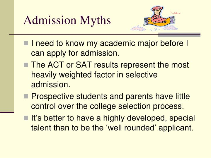 Admission Myths