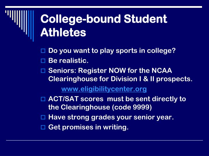 College-bound Student Athletes