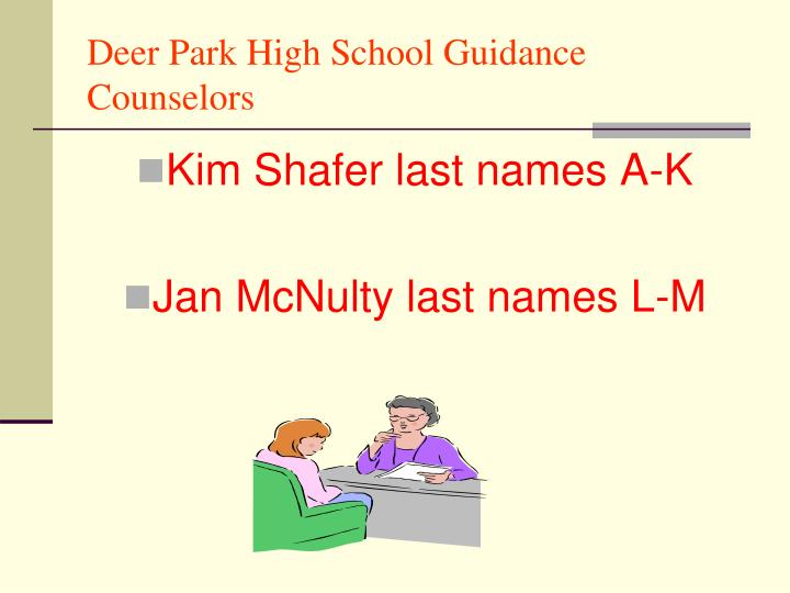 Deer park high school guidance counselors