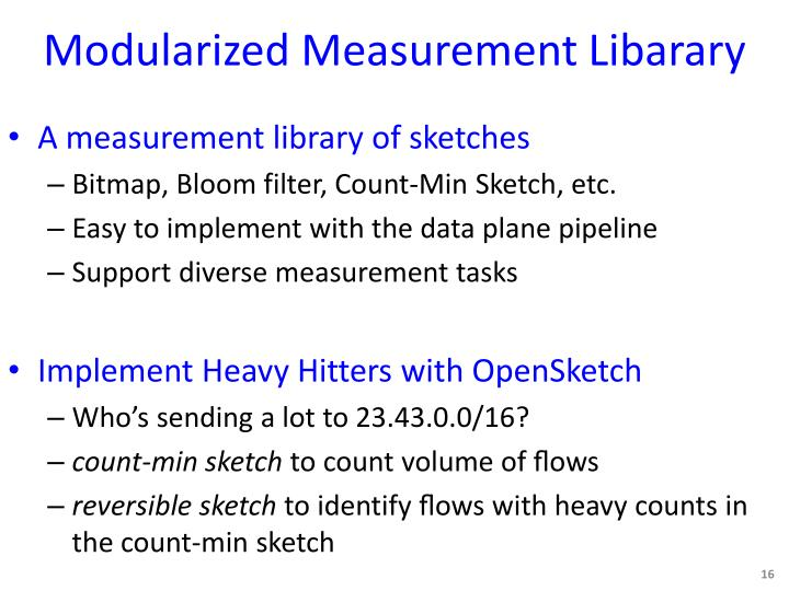 Modularized Measurement