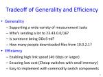 tradeoff of generality and efficiency