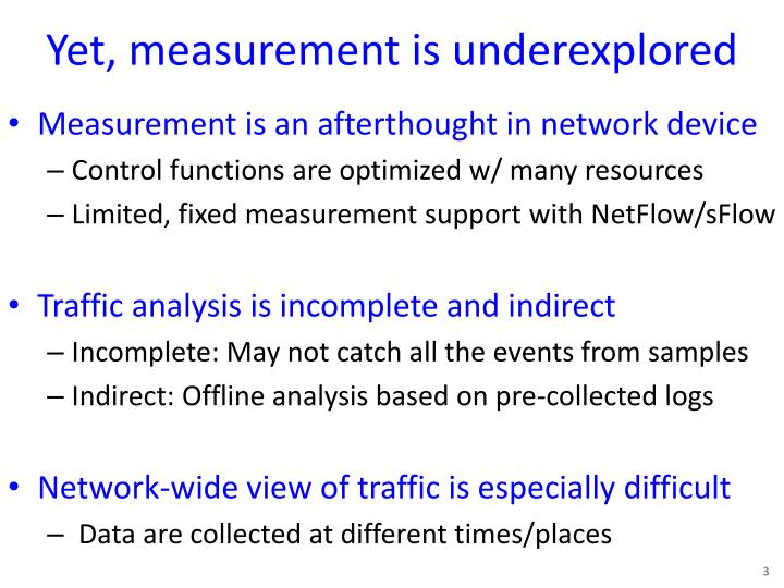 Yet, measurement is underexplored
