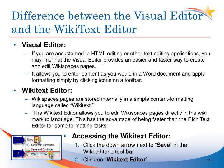 Difference between the Visual Editor