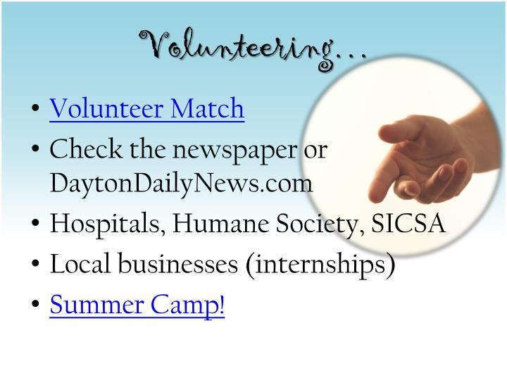 Volunteering…