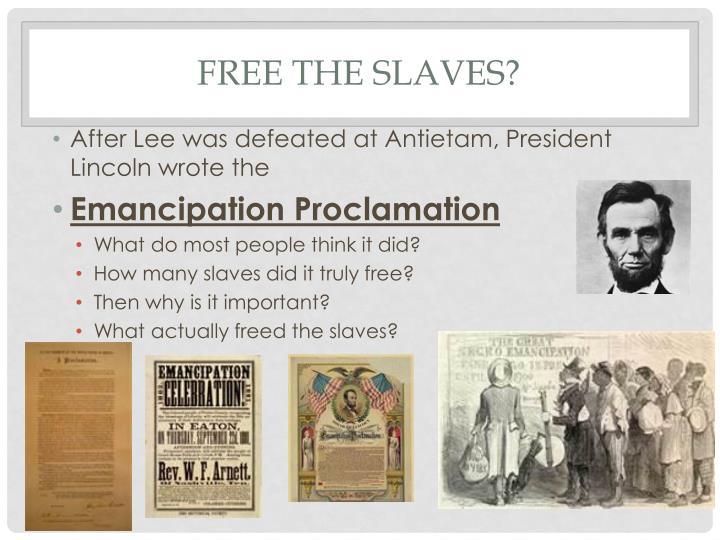 Free the Slaves?
