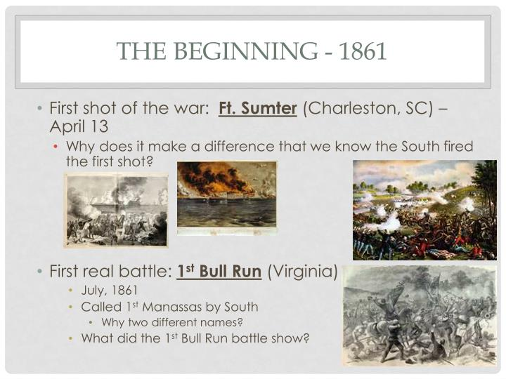 The beginning - 1861