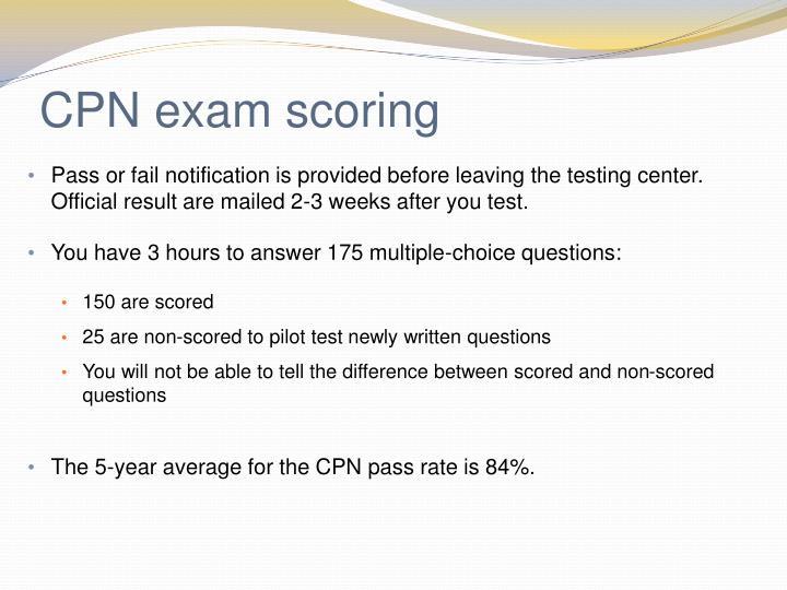 CPN exam scoring