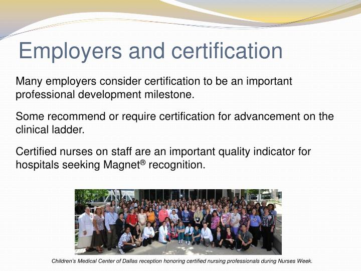 Employers and certification