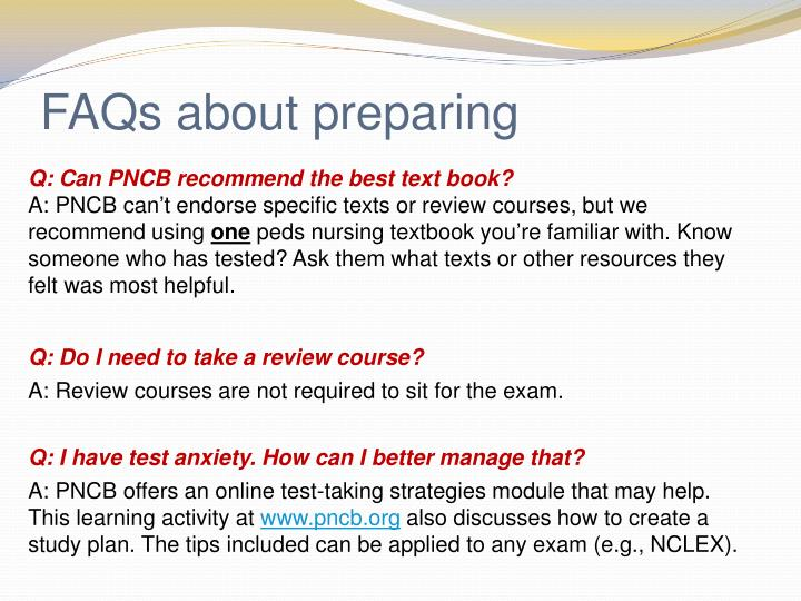 FAQs about preparing