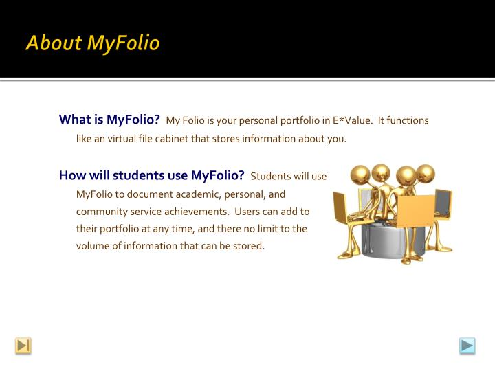 About myfolio