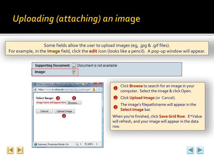 Uploading (attaching) an ima